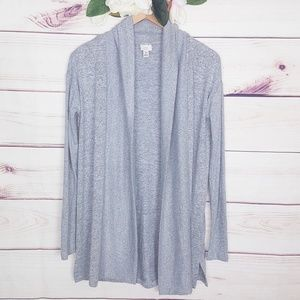 a new day | Soft Grey Open Front Cardigan XS